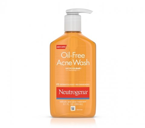 Oil-Free Acne Wash bottle