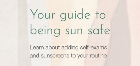 Image of the sun safe patient guide