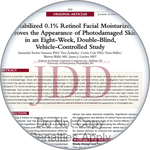 Image of the 8-week retinol study