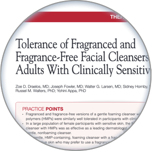 Image of the sensitive skin article
