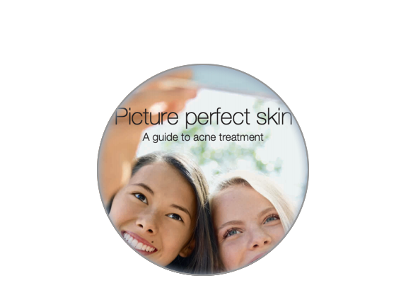 Image of the site on the screen patient acne guide