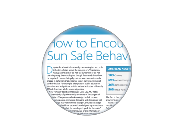 Image of the Sun Safe Behaviors article
