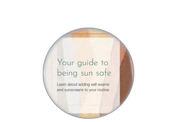 Image of the sun safe patient article on the screen